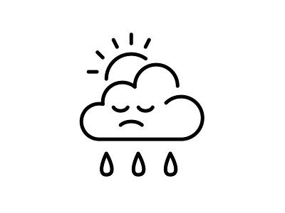 drippity drop contrast profile stroke face ux ui icon day bad sad rain cloud