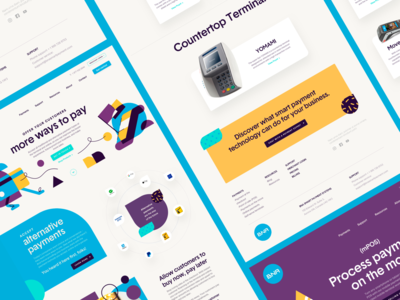 BNA - Website ux ui hero image header illustration web design services products about us company page sales corporate website landing page nfc mobile payments pos ecommerce fintech payments