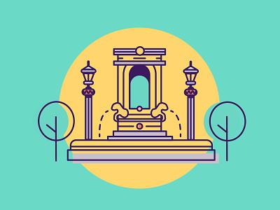 Hugo - Illustration Style Exploration illustrator guatemala city buildings architecture building line art vector illustration