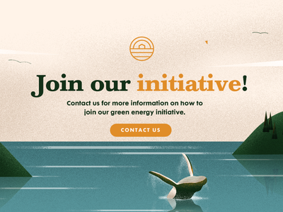 Green House - CTA II ux ui sustainability green energy whale ocean illustration web call to action cta