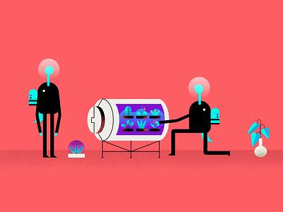 The Lab Studio - Design Systems illustration character vector website illustration sci-fi scientist lab laboratory mars alien ufo spot illustration branding system design systems illustration