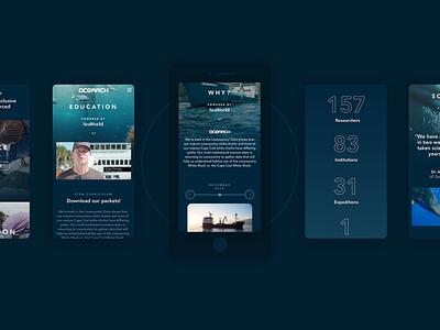 Ocearch - Responsive website science laboratory ocean mobile responsive design thinking corporate ux ui