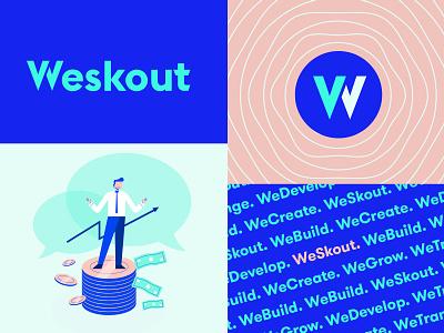 Weskout - Branding System agency firm marketing sales vector illustration texture pattern logotype design system brand system