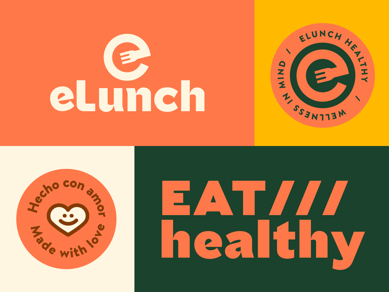 eLunch - Brand System catering healthy brand system logo system logo typography logotype brand branding