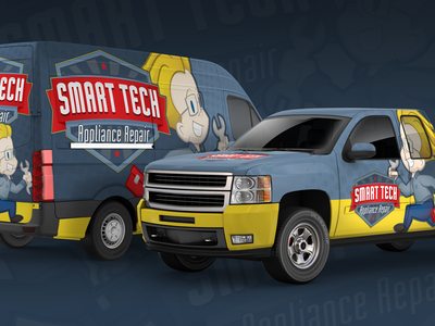 Branding & Fleet Wrap - Smart Tech vehicle design vehicle graphics vehicle wrap character mascot branding logo illustration