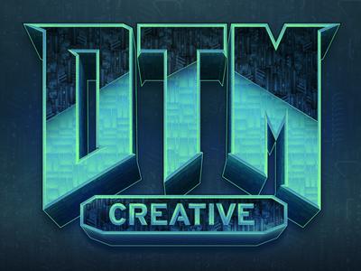 DTM Doom-esque industrial techy vector design illustration doom affinity designer