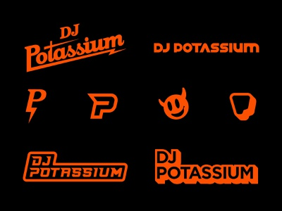 DJ Potassium - Unused Logo Concepts musician music dj icon art world typography vector illustration design branding graphicdesign logodesign logo