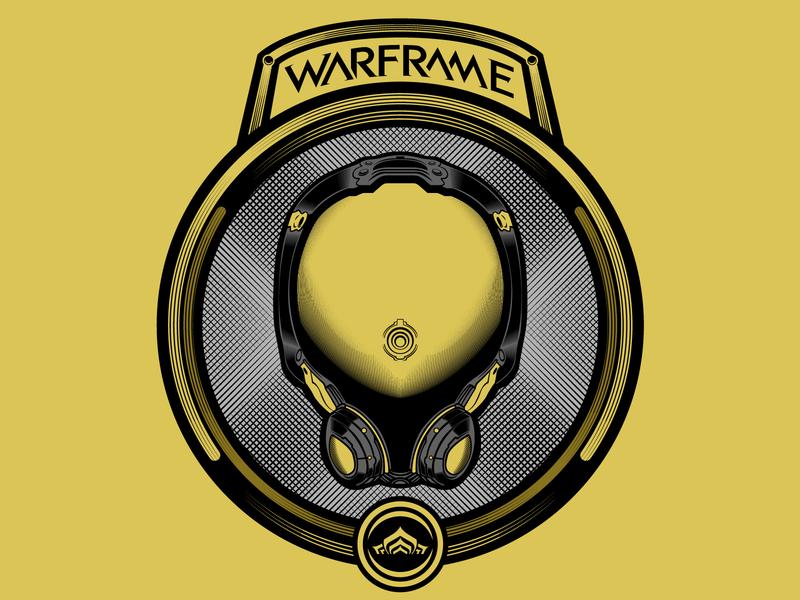 Mag from Warframe branding typography art vector badge illustration