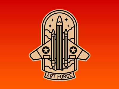 Art Force - Badge and Sticker Design