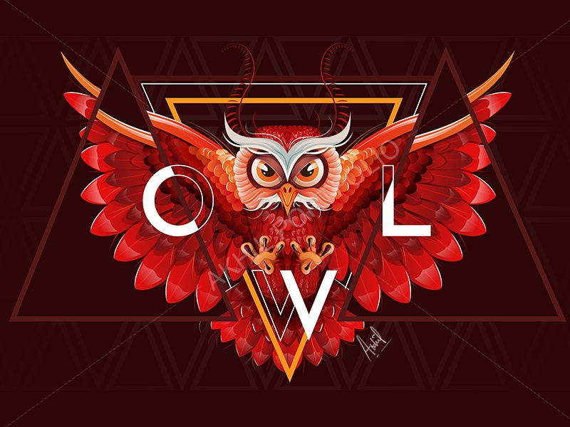 Owl Vector Art abstract digital art illustration creative illustrator