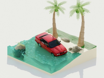 1st blndr try lowpoly cycles blender isometric render 3d vlasuhiro