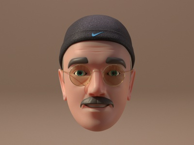 Apple memoji redesign character illustration blender render 3d vlasuhiro