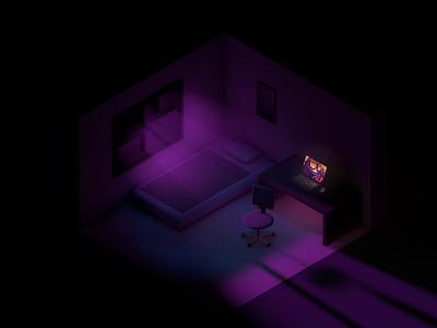 Cozy room vlasuhiro c4d