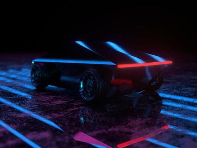 Cyber-stons stance cybertruck cyberpunk 3d minimal vlasuhiro c4d