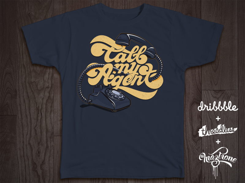 My entry for the Threadlesss + Dribbble playoff dribbble threadlesss artwork graphic vector logo logotype type typework lettering typography maztrone