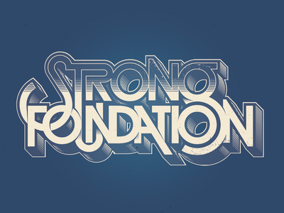 Strong Foundation logotype artwork design graphic vector lettering letters type typography logo logotype lubalin avant-garde graphic design strong foundation