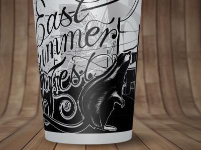 Ecocup Design - East Summer Fest #3 artwork design graphic vector logo logotype illustration type typework lettering typography letters ecocup eastsummerfest graphic design