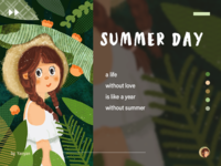 Summer Girl in white