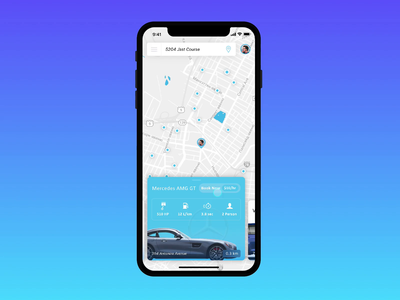 Premium Carsharing Service app concept car sharing carsharing ui app animation colorful clean minimalism ux motion