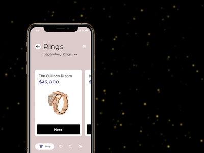 App for buying rings with 3D animation motion interaction colorful cinema4d cinema 4d cinema 3d simple clean luxury design ux ui app app animation