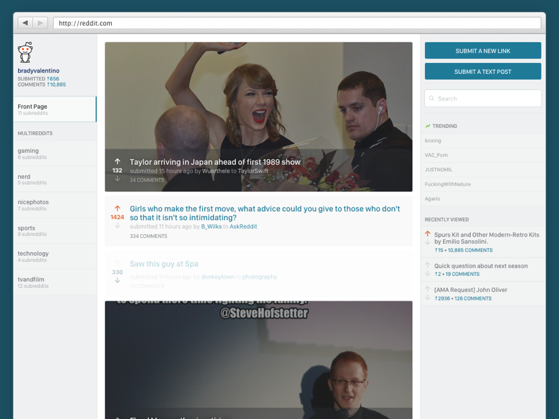 What if reddit was beautiful? web design beautiful modern clean reddit