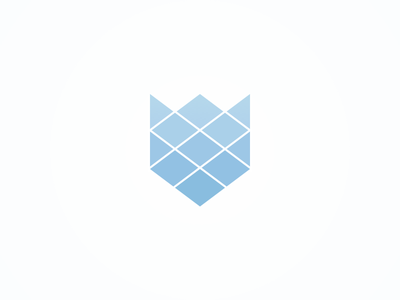 Fox geometric rhombus triangle logo brand fox