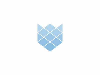 Fox geometric rhombus triangle logo brand fox