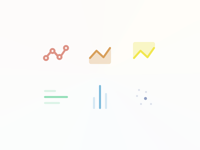 Chart Types scatter bar area line icons types chart