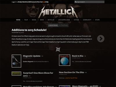 Unsolicited Redesign: Metallica.com