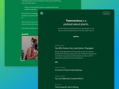 Treemendous Redesign 🌲 brand identity branding brand redesign website podcast treemendous