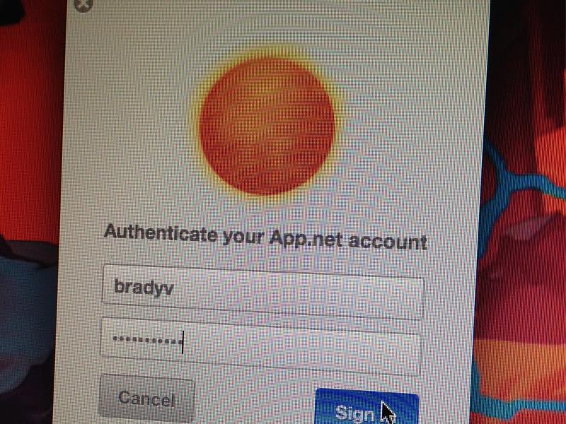 Authenticate app.net adn alpha authenticate login window sunlight app os x sign in