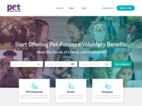 Pet Benefits Solutions Main Screen