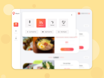 Digital Menu for Restaurant - Concept