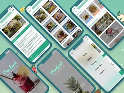 Verdant - Recipe App Challenge free-download ui-kit healthy-app verdant challenge food-app recipe-app ios ux ui app design mobile app