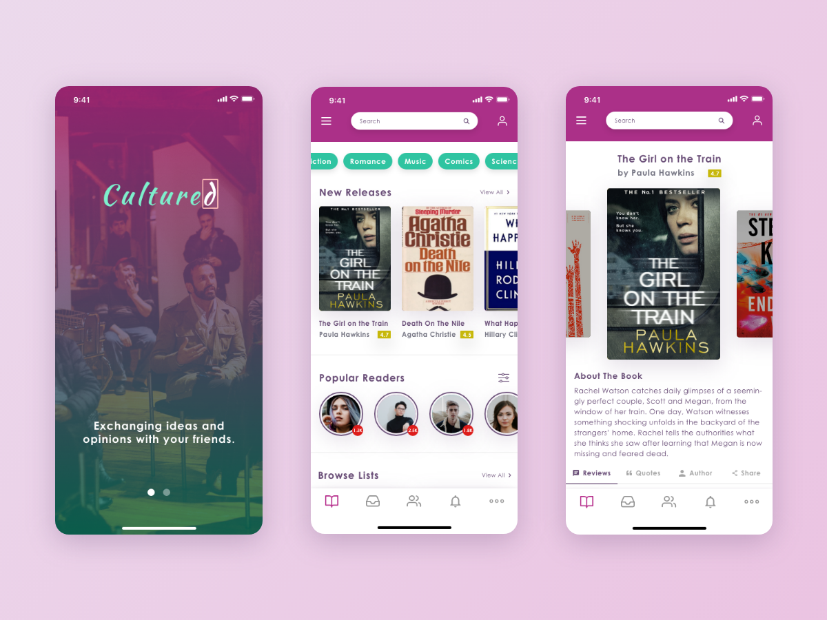 Cultured Ios Book App By Al On Dribbble