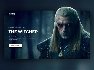 The Witcher Concept UI tv web web design ux ui witcher the witcher netflix interface design dark clean
