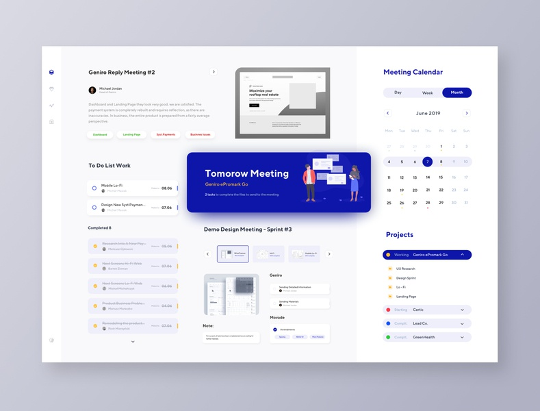 UX Studio And Client Consultation Dashboard movade calendar ui consultation cooperation communications product design tool product design dashboard web design ui ux interface design clean