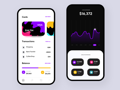 Money Tracking App movade mobile saving income banking bank money tracking expense tracker expense cards ios dashboard app android app dark product design ux ui interface design