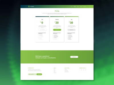 Vcompare pricing page design pricing ui web