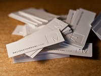 Modern Letterpress Business Cards