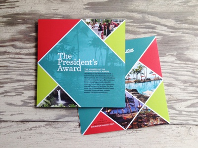 The President's Award Brochure award tropical travel vacation palm trees triangle grid