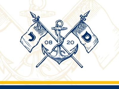 Nautical Save The Date Lockup monogram nautical wedding