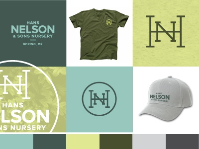 Preliminary Color Board A tree nature leaves family landscaping monogram growth