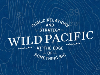 Wild Pacific, Chosen Logo waves water sail float angled nautical ocean sea