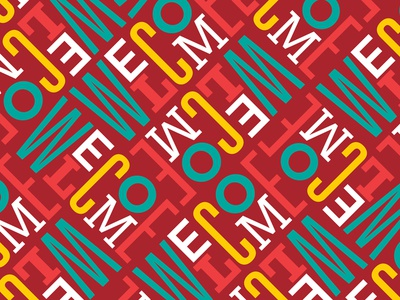 Welcome Pattern folder welcome text typography pattern