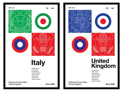 International Military Posters international italy united kingdom roundel national seal american air force united states military helvetica european