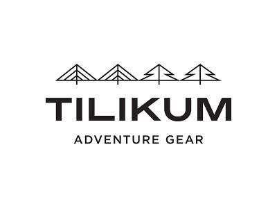 Tilikum Adventure Gear, Final Logo line-art outdoors northwest tree bridge