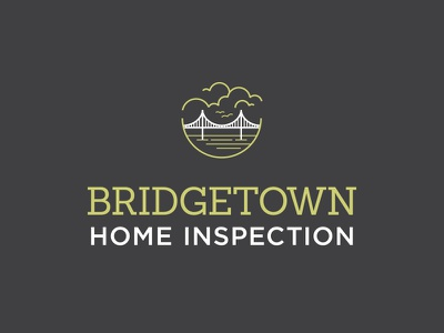 Bridgetown Home Inspection, Chosen Logo line art northwest oregon portland water clouds bridge