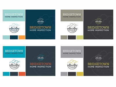 Bridgetown Home Inspection, Color Palette Options line art northwest oregon portland water clouds bridge