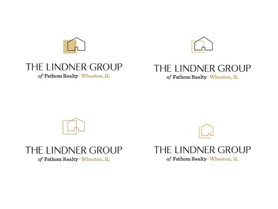 The Lindner Group, Logo Options illinois classic classy clean icon l house home real estate